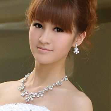 2012 necklace earrings set - - princess bridal accessories wedding accessories hj9938(China (Mainland))