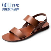 Aokang goll summer male leather sandals male sandals gl90 the trend of male