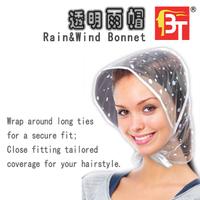 New arrival Waterproof rain hat pe rain-hat dot rain hat wind rain bonnet 10pcs/lot