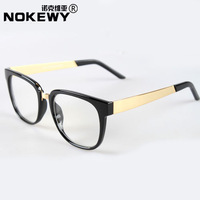 2013 New Brand Normic nokewy fashion glasses frame plain metal big box eyeglasses frame