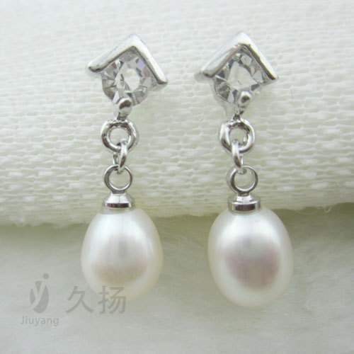 fresh water pearl Korean jewelry fashion pearl earrings jewelry on behalf of a small jewelry mixed batch free shipping(China (Mainland))