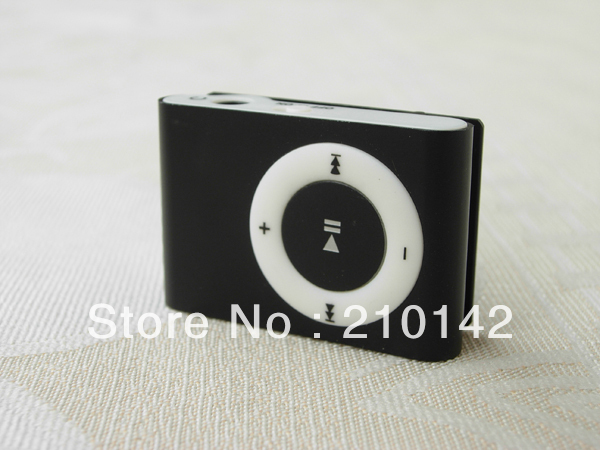 2 pcs / lot MINI clip MP3 Player with Micro TF/SD card Slot with cable+earphone No retail box Free shipping mp3 players6 colors(China (Mainland))