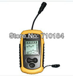 best quality 1pc/lot Depth Sonar Big LCD Fish Finder Alarm 100M, Fish Alarm ff1108 not wireless