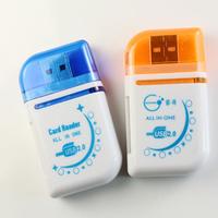 Hot multifunctional usb card reader mobile phone card size cartoon universal card reader