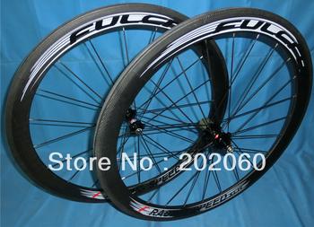 2013 Fulcrum racing speed XLR Matte Black wheels 50mm carbon rim clincher road bicycle wheelset, free worldwide shipping