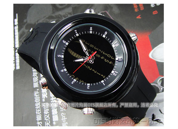 Free shipping O.T.S6751 High quality PU men watch sports in the open air Fashionable waterproof student table(China (Mainland))
