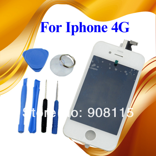 5PCS/Lot For Apple IPhone 4 4G GSM AT&amp;T LCD Digitizer Touch Screen Assembly Glass White Dropship MA0165(China (Mainland))
