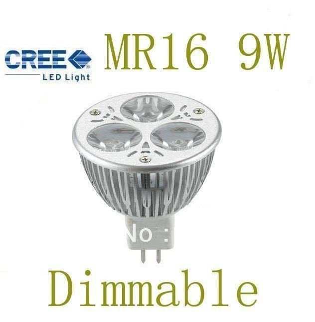5pcs/lot Bright led bulbs best selling new design warm/pure/cool white Mr16 9W Dimmable LED light bulb lamp AC&DC12V(China (Mainland))