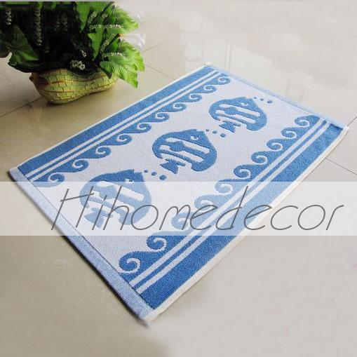 Antislip Carpets Fish Pattern Rectangular Bath Rugs(China (Mainland))