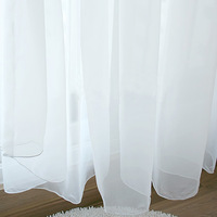 Quality curtain window screening modern white transparent shalian finished product