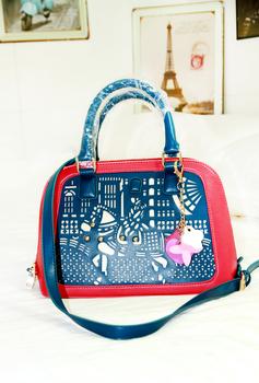 2013 women's handbag candy color cutout shell bag handbag messenger bag small bags