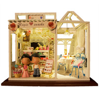 Handmade diy assembled wooden model of the educational toys sweet gift diy dollhouse