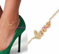 Wholesale Jewelry Stylish Love Anklet Promotion 2 Colors 1465
