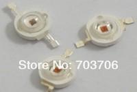 Free Shipping 100pcs High power 1W 40-50LM 2.0-2.6V Yello led lamp TAIWAN chip