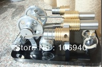 Free shipping Hot Air Stirling Engine Motor Generator Education Toy Kits Electricity M16-22-D