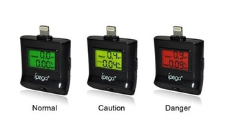 Breath alcohol tester with LCD digital display for iPhone 5 / iPod touch 5 / iPad 4/ipad mini