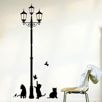 Free shipping  Wall decals Removable stickers decor art cat  wall sticker decor