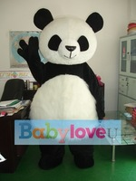 Clothes panda mascot costume China giant panda adult size free shipping