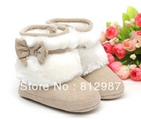 Free shipping wholesale 2013 fashion super lovely charming  warm fur snow boots styles BB  shoes/infant shoes/prewalkers