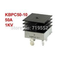 KBPC50-10 50A 1KV Single Phase Bridge Rectifier Half-Wave White w Heatsink