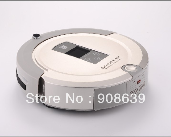 Free Shipping By EMS For Russian Buyer/  Shining Logo Smart Vacuum Cleaner With Lowest Noise And 90 Minutes Working Time