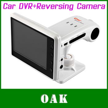Free DHL - PAKITE PAT-860HD Car DVR+Reversing Camera Car Digital Video Recorder High Quality - 5pcs/lot