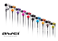 Wholesale price Awei ES-900M earpones free shipping with retail package 3.5mm jack headphones in several colors