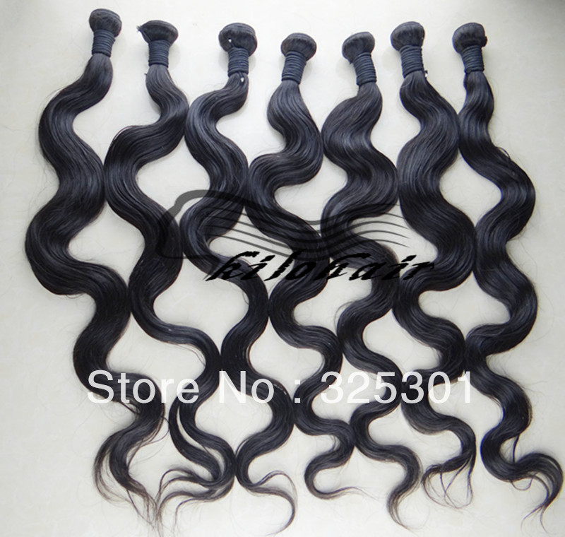 4pcs/lot Malaysia Hair weft,mix lengths16&quot;18&quot;20&quot;22&quot;24&quot;28&quot; Good price body wave kilo hair extensions,Remy human Hair,color 1b(China (Mainland))