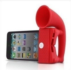 For iPhone Case Colorful Silicone Portable Amplifier Speaker For Apple iPhone 4 4S 4GS Free Shipping Accessories(China (Mainland))