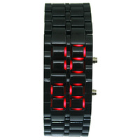 PLASTIC Black Color Lava Mens Male Teenagers LED Display Sport Quartz Digtal Bracelet Watches. Free & Drop Shipping