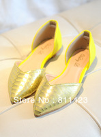 Sweet princess wind pointed toe shoes shallow mouth flat heel flat single shoes women's shoes