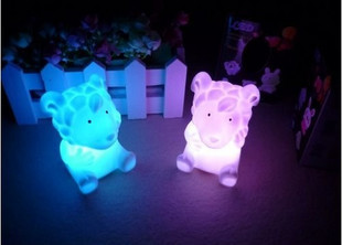 Zodiac sheep colorful small night light light-up toy seven color allochroism lamp night market hot-selling(China (Mainland))