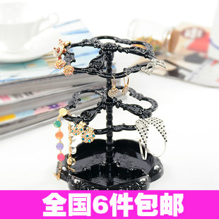 2891 anna princess three-dimensional rotating jewelry stand double layer earring rack accessories rack(China (Mainland))