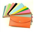 Fashion multi-colored wallet candy color multi-purpose wallet multi card holder women&#39;s brief style handbag,free shipping LQ155