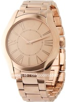 Free Shipping With Original box And Certificate Slim Rose Gold-Tone Mens Watch AR2061