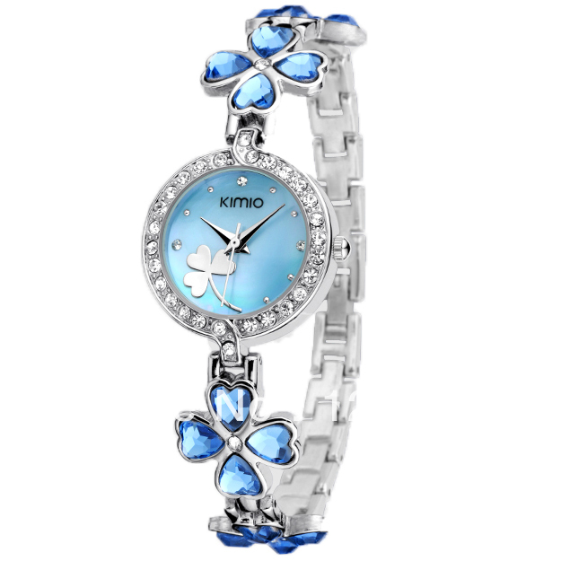 Watch bracelet watch waterproof fashion table ladies watch fashion four leaf clover watch vintage table(China (Mainland))