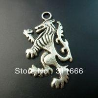 80 pcs/lot Lion tibet silver floating charms pendants Free shipping