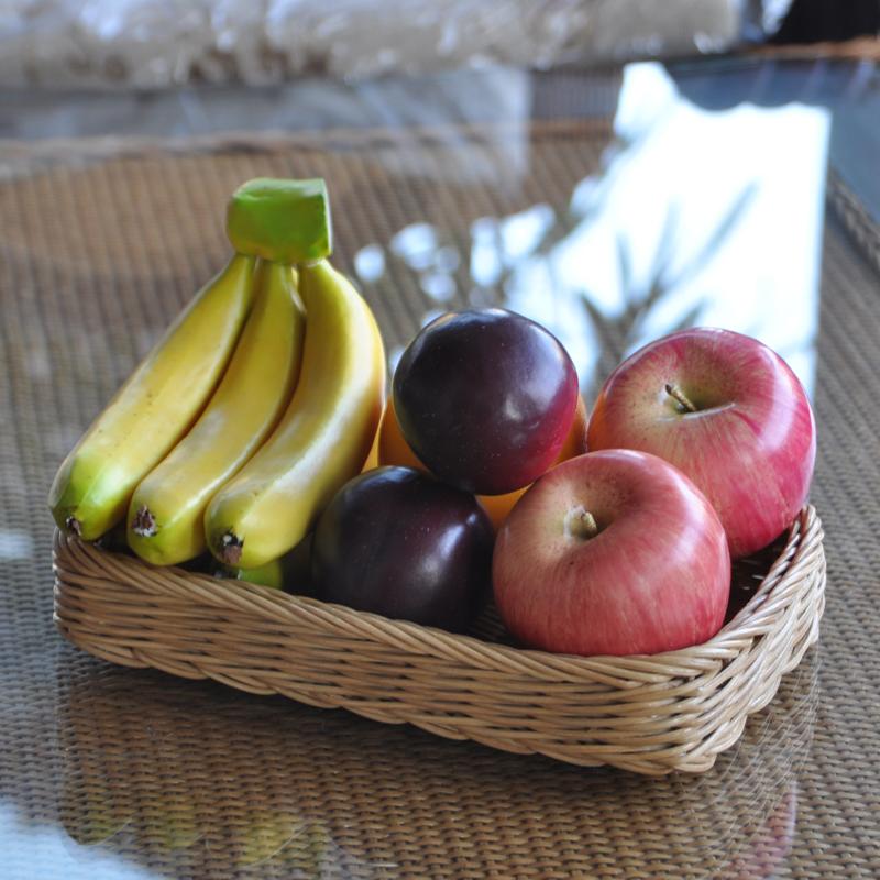 Cesta tigela prato rattan rattan retângulo frutas frutas frutas bandeja americanos estilo eco-friendly pallet lanche(China (Mainland))