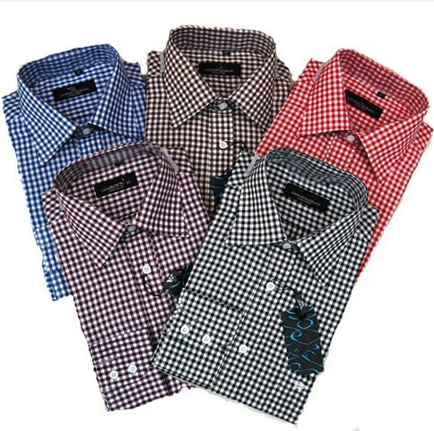 Stylish Male Clothes Luxury Brand Fashion Men's Casual Dress Shirts Long Sleeve Plaid Shirt For Men size S-XXXXL(China (Mainland))