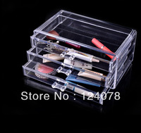 Fast Shipping 1pc Crystal Acrylic Makeup Organizer Jewelry Display Box Necklace Display Stand SF-1005-1