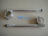 Free shipping 41MM CNC Handlebars Handle Bar Clip On Ons For Suzuki GSX 750F GSX600F KATANA Silver