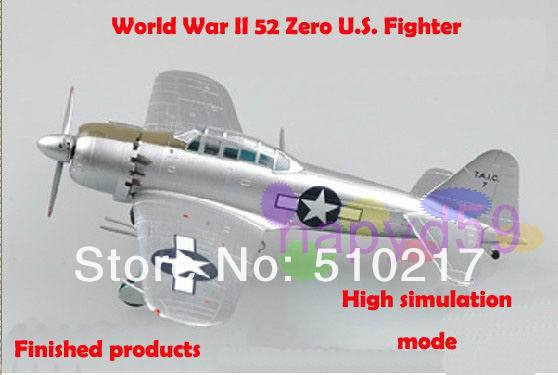 free ship 1/72 finished world war II piston propeller fighter model military aircraft model 52 Zero U.S. fighter model(China (Mainland))