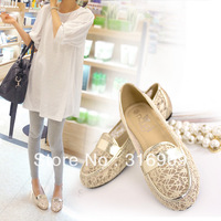 free shiping 2013 summer all-match  shoes  flat heel round toe women's plus size shoes female casual flats F20