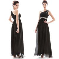 2013 elegant oblique slim handmade slim waist dress long formal dress one-piece dress dinner service  free shipping