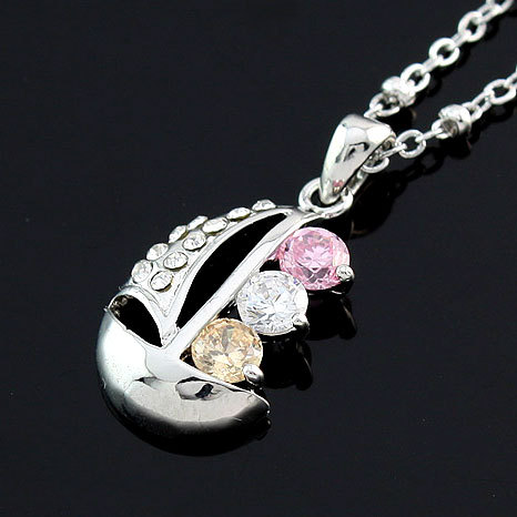 Min.order is 10USD,Free shippingZircon Necklaces(China (Mainland))