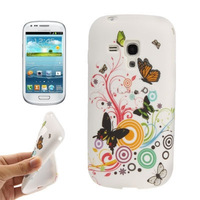 Butterfly Pattern TPU Case for Samsung Galaxy SIII mini / i8190 Free Shipping