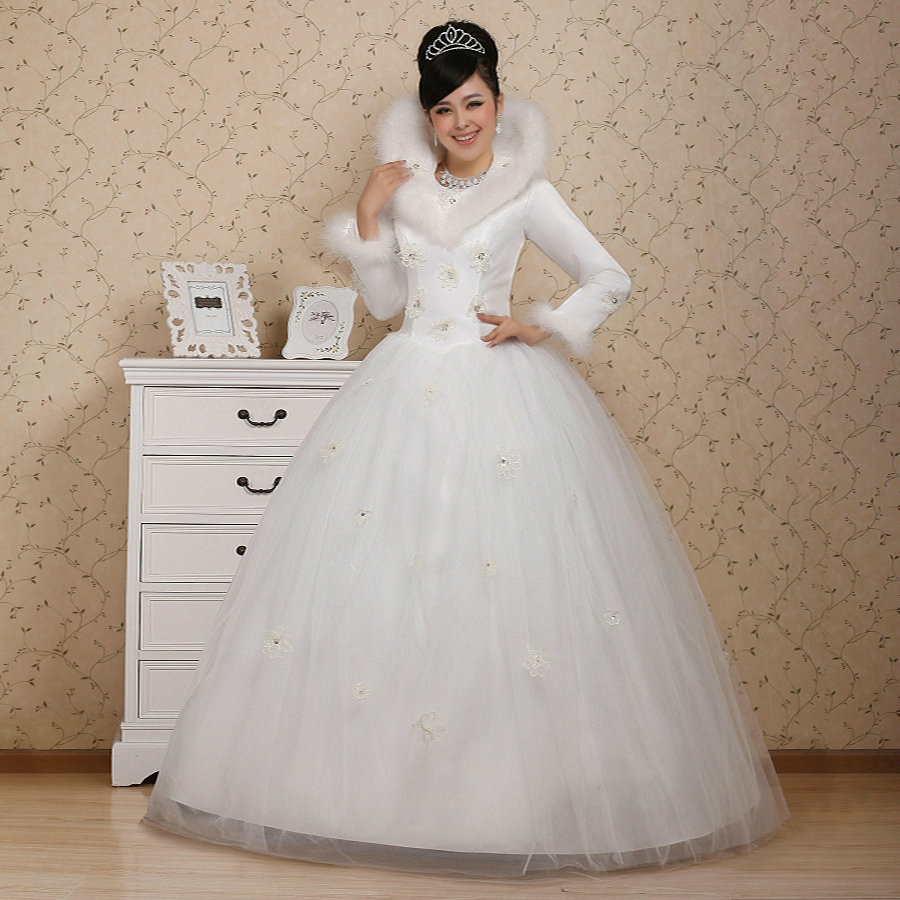Lover 2012 wedding winter cotton fitted winter wedding dress cotton wedding dress winter wedding dress(China (Mainland))