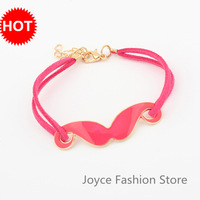 Min. Order $10,New Fashion Bracelet 2013,Vintage Love Charm Drop Oil Moustache Beard Bracelet,Arm Candy Bracelets Bangle,B69