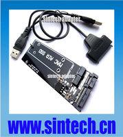 6+12pin mini SATA SSD to 22pin SATA Adapter Card +USB SATA cable for Apple 2010/ 2011 MACBOOK air A1398 MC975 MC976 ssd