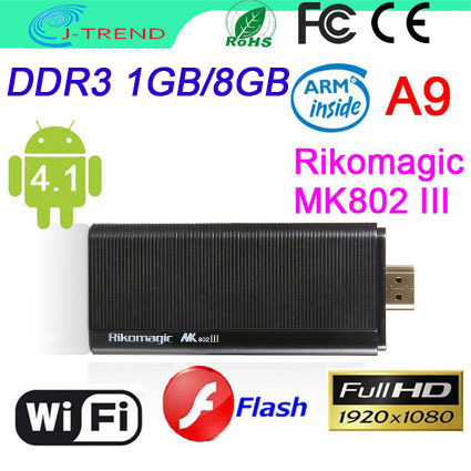 Lowest Price MK802III Dual Core RK3066 1.6GHz Android Google TV Box Mini PC 1GB RAM 8GB ROM with DHL Fast Shipping(China (Mainland))